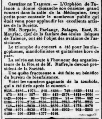 Concert salle de la Médoquine