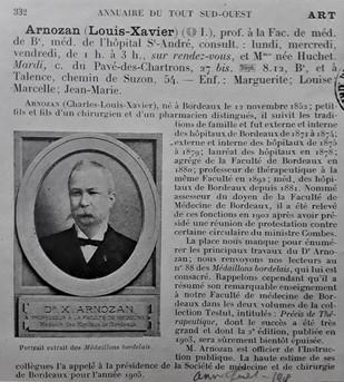 Professeur Xavier Arnozan Médecin à Talence