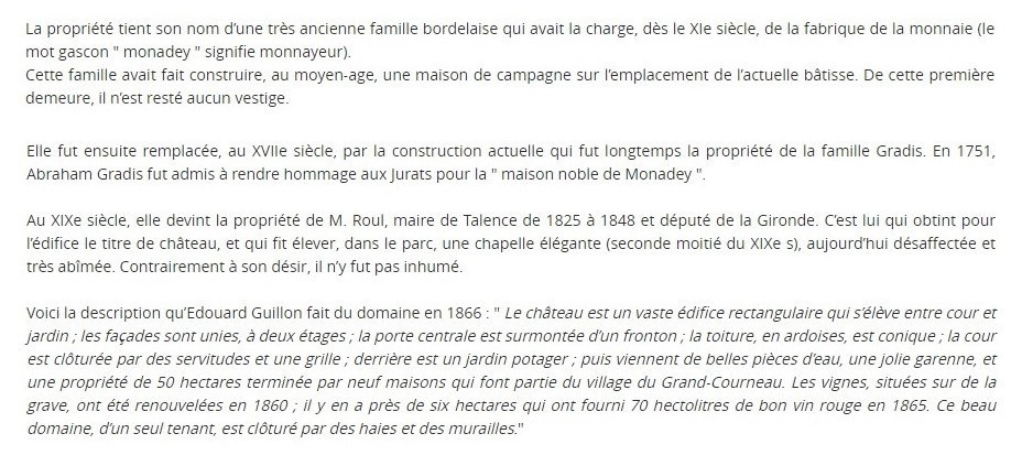 Historique Monadey