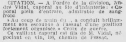 Citation VIDAL André