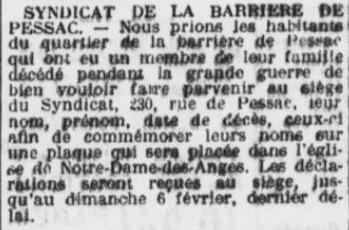 Comité Barrière Pessac