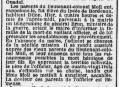 Colonel Moll ancien du lycée Bordeaux