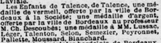 Médaille de Bordeaux