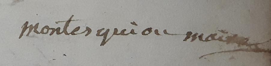 De Montesquiou Jean  Maire 1816-1822