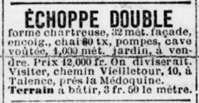 Echoppe double