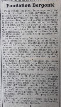 La Fondation Bergonié