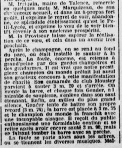 Record du Monde battu à Talence déjà en 1906.