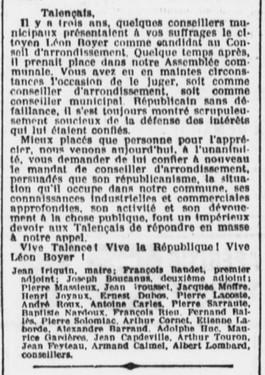 Léon Boyer Candidat