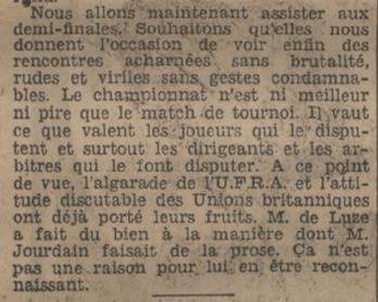 Son action n'a pas que du mauvais. Même si la division a poussé la France hors du Tournoi.