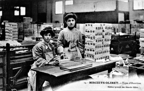 Biscuits Olibet deux ouvrières