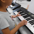 Each students has a keyboard!