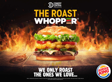 COMEDY CENTRAL EN BURGER KING VIEREN EERSTE COLLAB MET LIMITED EDITION  'THE ROAST WHOPPER®'