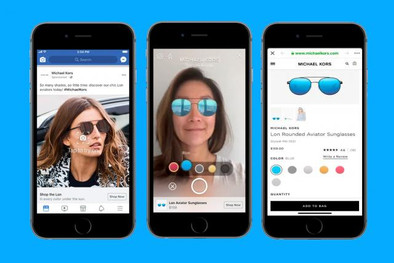 Facebook Tries Selfie Commerce With AR Ads(Adage)