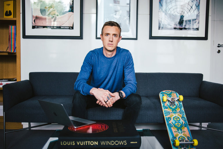 Ian Rogers, the chief digital officer of LVMH, is working to introduce 24 Sèvres, a shopping website and mobile app. Credit Dmitry Kostyukov for The New York Times