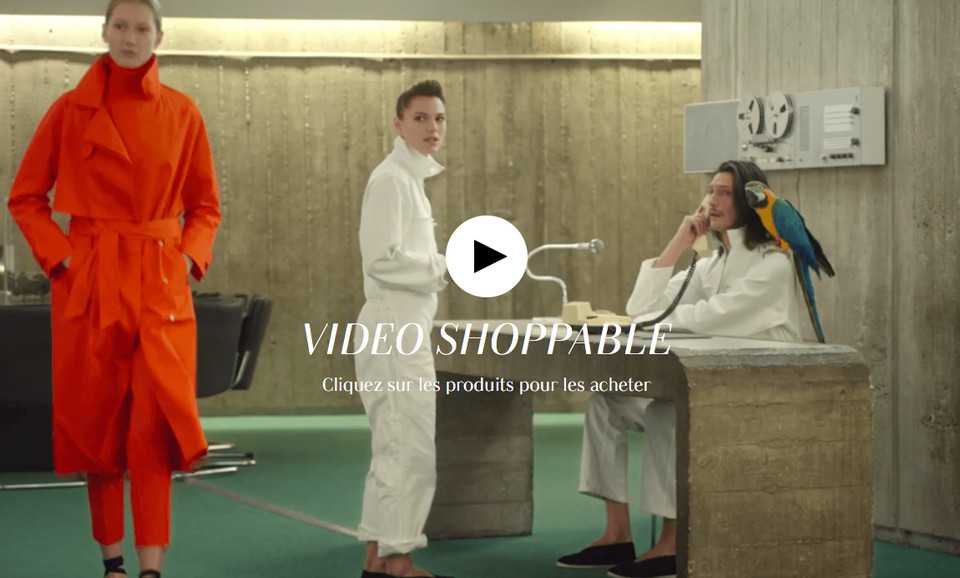 Smartzer's shoppable video for Galeries Lafayette (Credit: Smartzer).SMARTZER