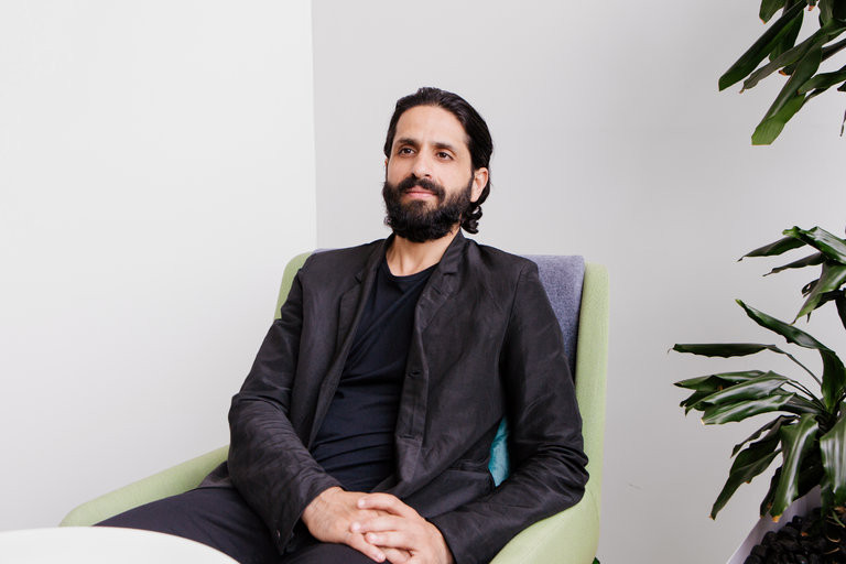 Amit Sood discussed Google's new fashion archive, We Wear Culture, at his Manhattan office. Credit Alex Welsh for The New York Times