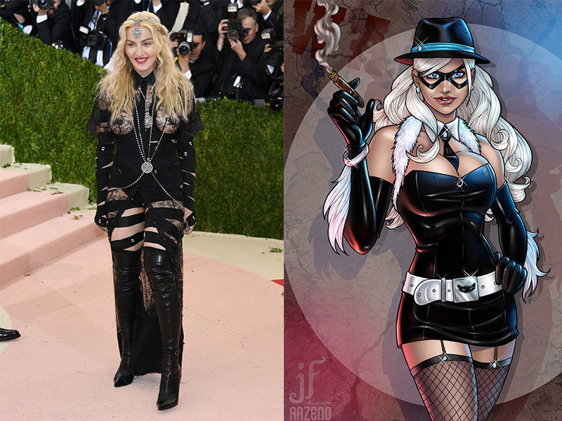 Madonna in a Givenchy Haute Coure dress, photo courtesy of the New York Times