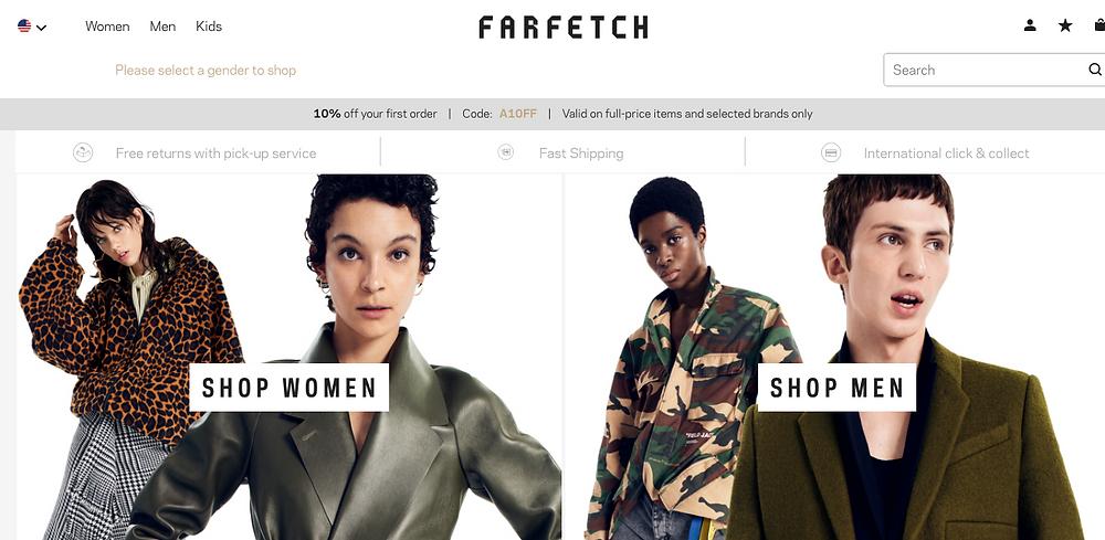Screen Shot by Farfetch