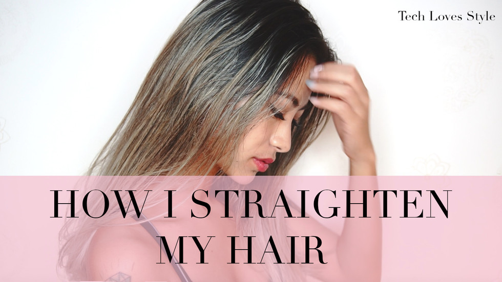 How I Straighten My Hair ⎜Bio Ionic GoldPro Styling Iron Review By Yarina