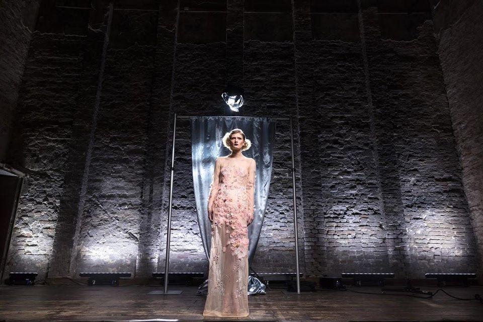 ElectroCouture's Marlene Dietrich dress created with Swarovski.