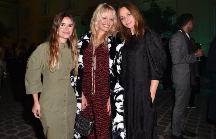 Miroslava Duma, Pamela Anderson, and Stella McCartney, Photo: Courtesy of Google Arts and Culture Lab
