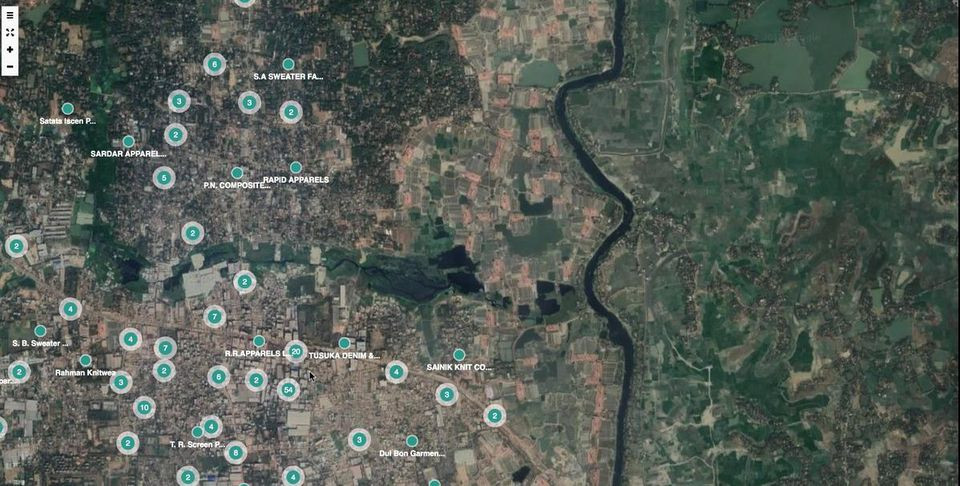 Sourcemap plans on mapping all the textile factories in Bangladesh.
