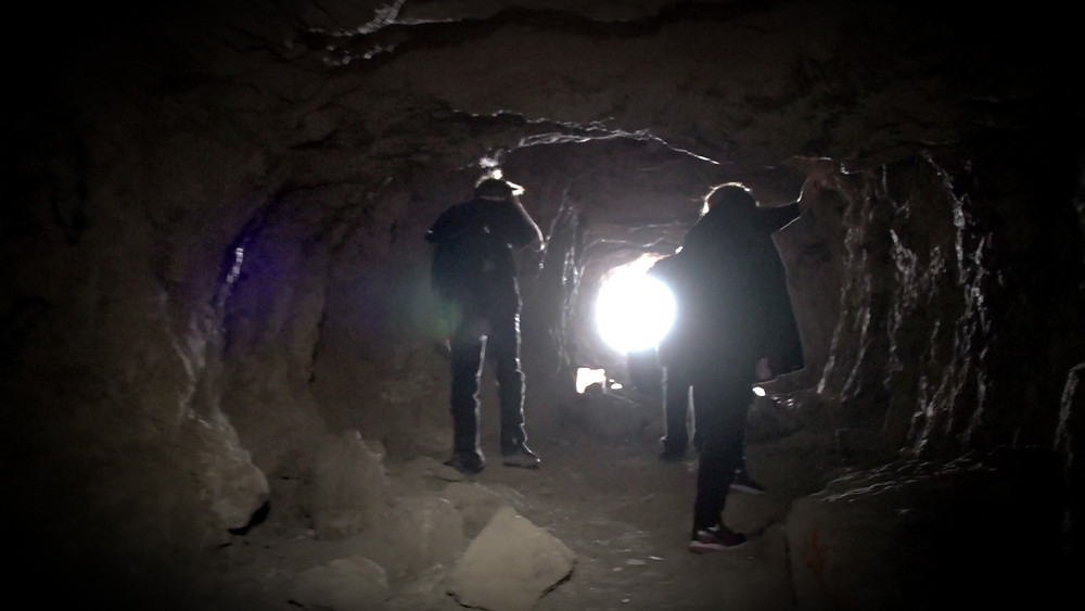 "Inside an ancient silver mine in Motion Picture Video's Documentary Film ""Real Haunts: Ghost Townws"""