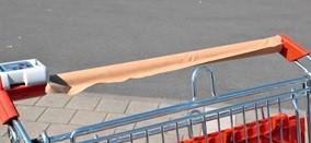 Protecție cărucioare cumpărături