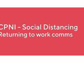 Recomandări de distantare socială pentru întoarcerea la birou