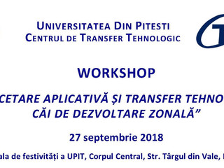 Invitație workshop organizat de Universitatea din Pitești