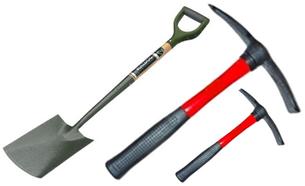 Spade, Pickaxe or Hand Mattock