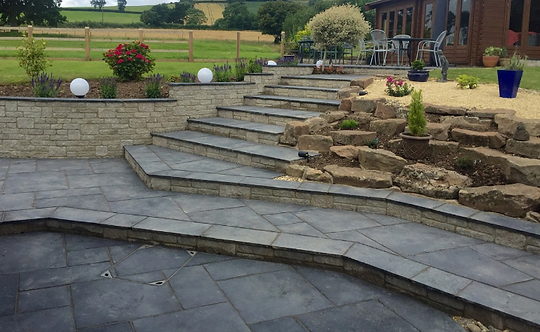 EM Black Mix - Limestone Paving