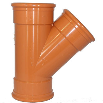 110mm Y Junction Triple Socket Pipe