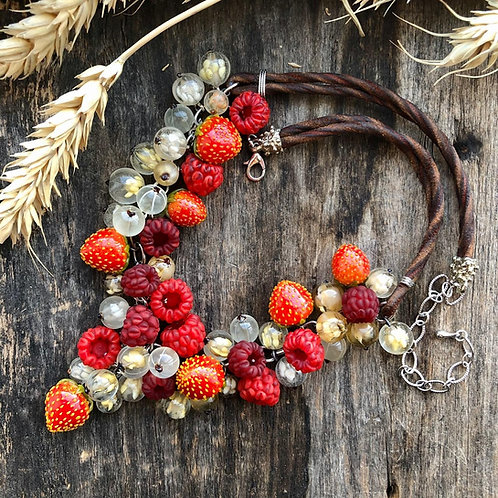 """Necklace, collection """"Berries"""""""