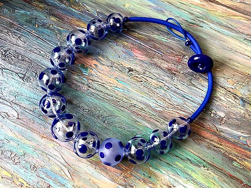 """Handmade necklace. Collection """"Dots""""."""