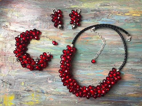 """Necklace """"Pomegranate"""""""