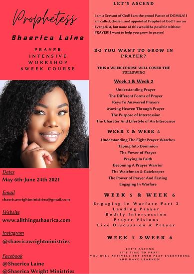 Virtual Prayer Intensive Workshop