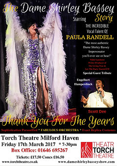 Shirley Bassey Theatre Tour Poster