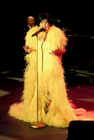 Dame Shirley Bassey Yellow Gown