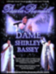 Dame Shirley Bassey Show Poster Paula Randell
