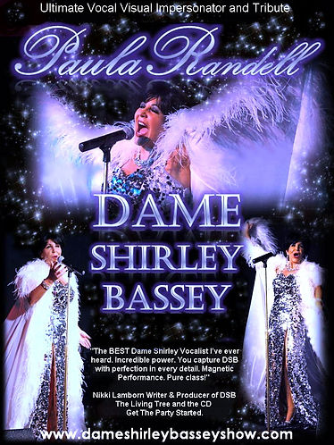 Dame Shirley Bassey Tribute Impersonator Lookalike Promotional Poster