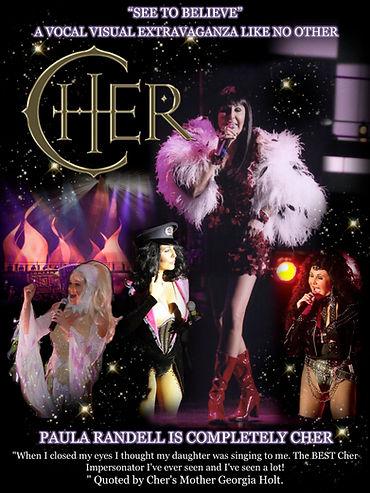 Cher Tribute Impersonator Paula Randell Promotional Poster