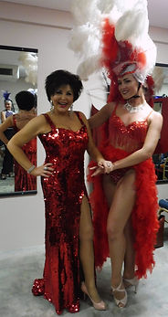 Shirley Bassey Paula Randell Performing. Exact Replica BBC Proms Costume.