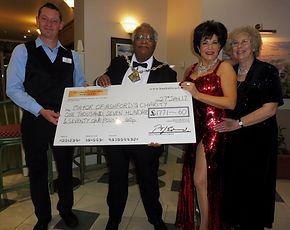 Shirley Bassey Tribute Presents Charity Cheque With Mayor Of Ashford