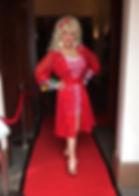Dolly Parton Impersonator Paula Randell Red Carpet Treatment