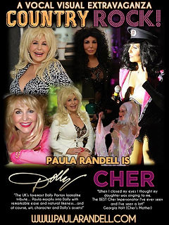 CHER & DOLLY PARTON COUNTRY ROCK POSTER