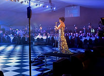 Dame Shirley Bassey Impersonator Performing for 850 Guests at The Shelby Newstead D007 Event