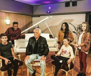 Michel Sardou & les Kids United dans nos studios