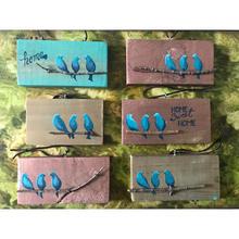 Various Mini Bluebird Paintings