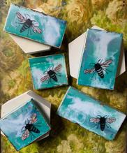 Mini Earth Day Honeybees of Encaustic